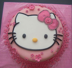 Floral Face Hello Kitty Cake