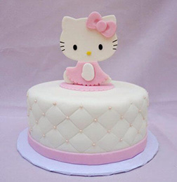White Pillow Hello Kitty Cake