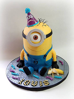 Here for the Party Minion Birthday Cake