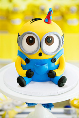 Baby Minion Birthday Cake