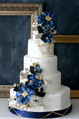 Blue Velvet Wedding Cake
