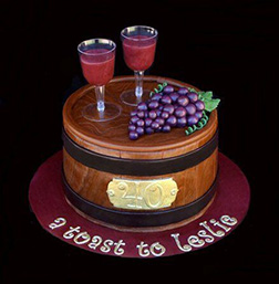 Drinks for 2 Wine Cake