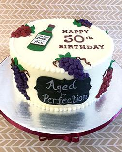 Aged Like Fine Wine Cylindrical Cake