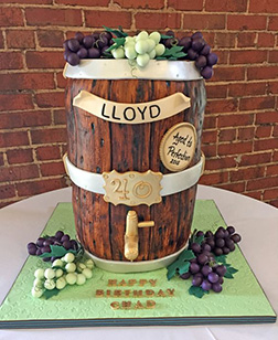 Wine Barrel Tapper Birthday Cake