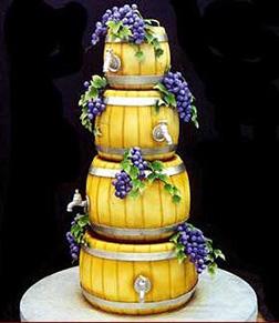 Wine Barrel Stack Cake