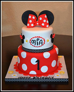 Classic Minnie Mouse Stack Cake