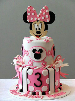 Triple Stack Minnie Mouse Cake