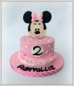 Pink Polka Dots Minnie Mouse Cake