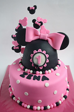 Mouse Ear Balloons Minnie Mouse Cake