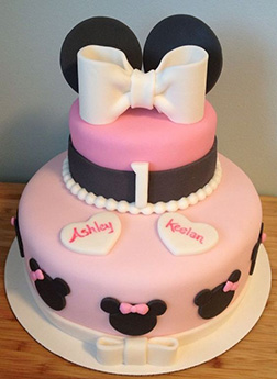 Pink Pearls Minnie Mouse Cake