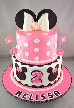Pink Blossom Minnie Mouse Cake