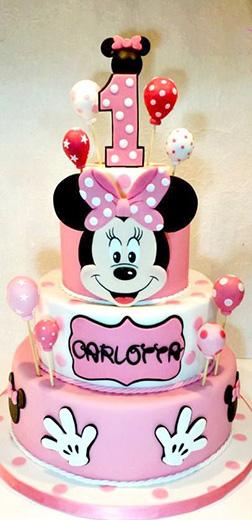 Minnie Mouse Balloon Ride Birthday Cake
