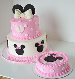 Elegant Minnie Mouse Minimalist Cake