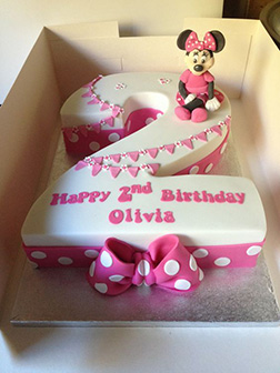 Minnie Mouse Age Announcement Cake