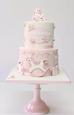 Snuggle Bunny Baby Cake