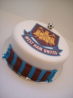 West Ham United Stripe Cake