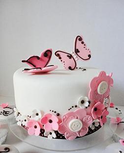 Butterfly Fields Birthday Cake