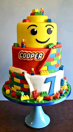 Triple Stack Lego Birthday Cake