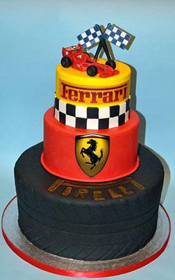 F1 Winner's Circle Ferrari Cake