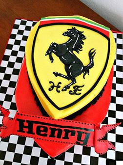 Ferrari Insignia Shield Cake 3