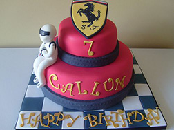 3D Ferrari Race Car Driver Cake