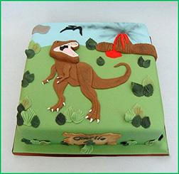 Jurassic Era Sheet Cake