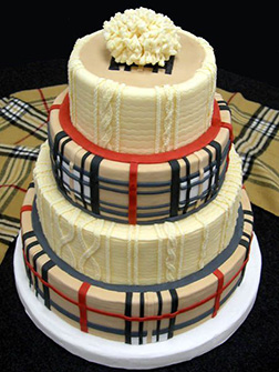 Burberry Tiered Cake