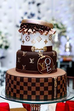 Louis Vuitton Stacked Giftbox Cake