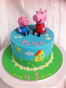 Peppa and George Pig Theme Cake 4