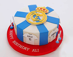 Real Madrid Team Jerseys Cake 2
