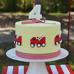 Little Hero FireEngine Cake 1
