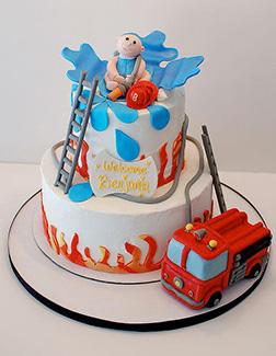 First Responder Baby Shower Cake