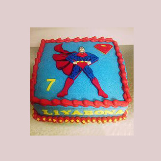 Superman Sheet Cake