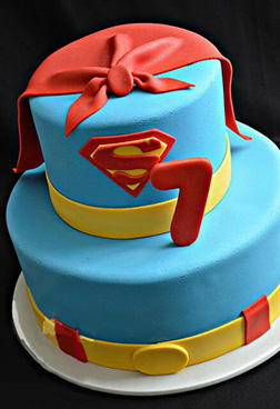 Superman Cape Tiered Cake