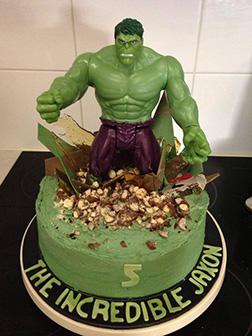 Incredible Hulk Figurine Cake