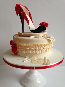 Christian Louboutin Stiletto Shoe Cake 2