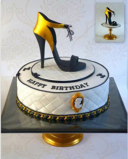 Chanel Shoe Cake 1