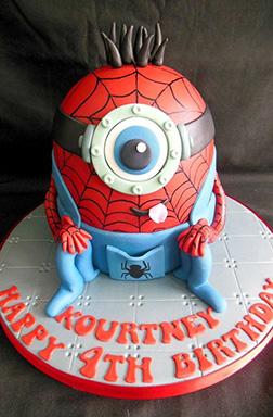 Spiderminion Cake