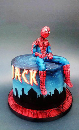 Friendly Neighbourhood SpiderMan Cake
