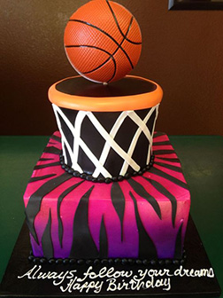 Basketball Goals Tiered Cake