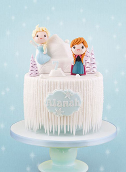 Elsa and Anna Themed Cake 1