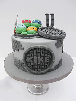 Underneath the City TMNT Cake