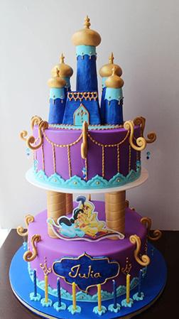 Aladdin & Jasmine Tiered Cake