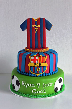 And He Scores! Barcelona Jersey Cake