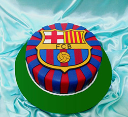 All Stripes Barca Insignia Cake
