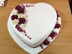 Blooming Heart Cake