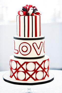 XOXO 3 Tiered Cake