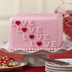 Love Cube Cake