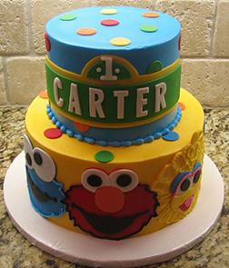 Sesame Steet Birthday Cake 1