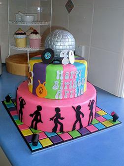70's Disco Cake 2